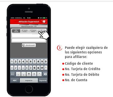 banca móvil registro